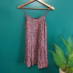 Xhilaration Floral Print Cami Blouse/Mini Dress S
